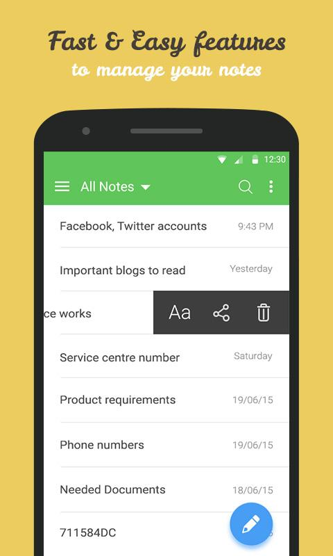 Secure Notes - Note pad- screenshot