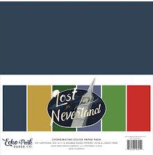 Echo Park Double-Sided Solid Cardstock 12X12 6/Pkg - Lost in Neverland UTGÅENDE