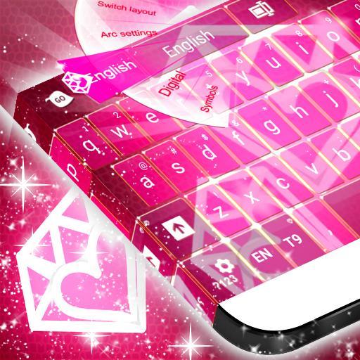 钻石粉红键盘主题 個人化 App LOGO-硬是要APP
