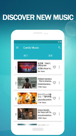 Candy Music - Stream Music Player for YouTube 1.2.5 screenshot 2092649