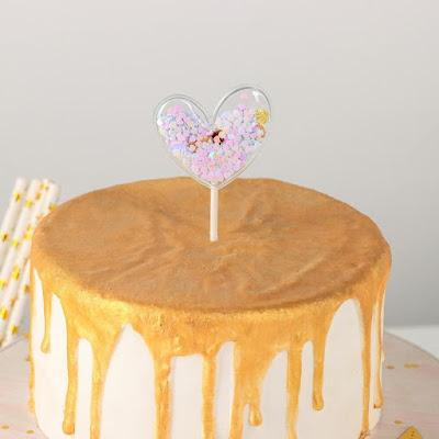 Топпер на торт«Конфетти. Сердечко», 12×5 см