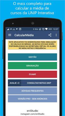 Calcular Média UNIP Interativa - screenshot