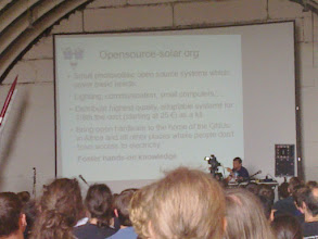 Photo: lecture about opensource-solar.org