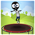 Trampoline Stickman Game:Addictive Endless Jumping icon
