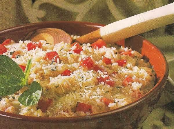 Fresh Tomato Basil Risotto With Mozzarella
