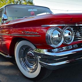 BIG RED !!! by Udo Weber - Transportation Automobiles ( red, catalina, auto, classic, close, origonal )