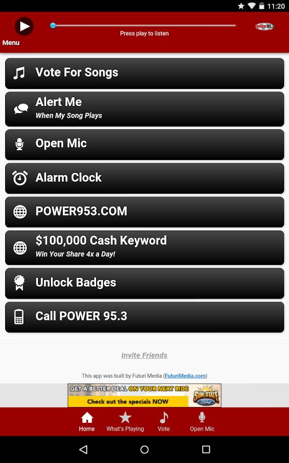 POWER 95.3- screenshot