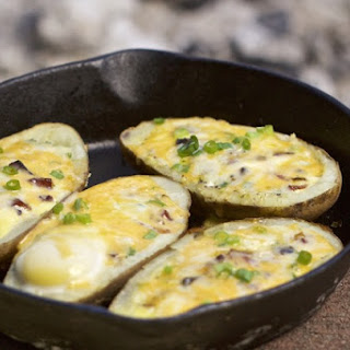 Easy Camp Breakfast Potato Boats