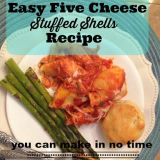 Easy Five Cheese Stuffed Shells