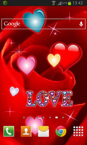 玩個人化App|Rose Hearts LWP免費|APP試玩