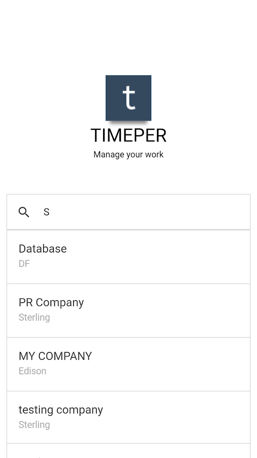 Timeper- screenshot