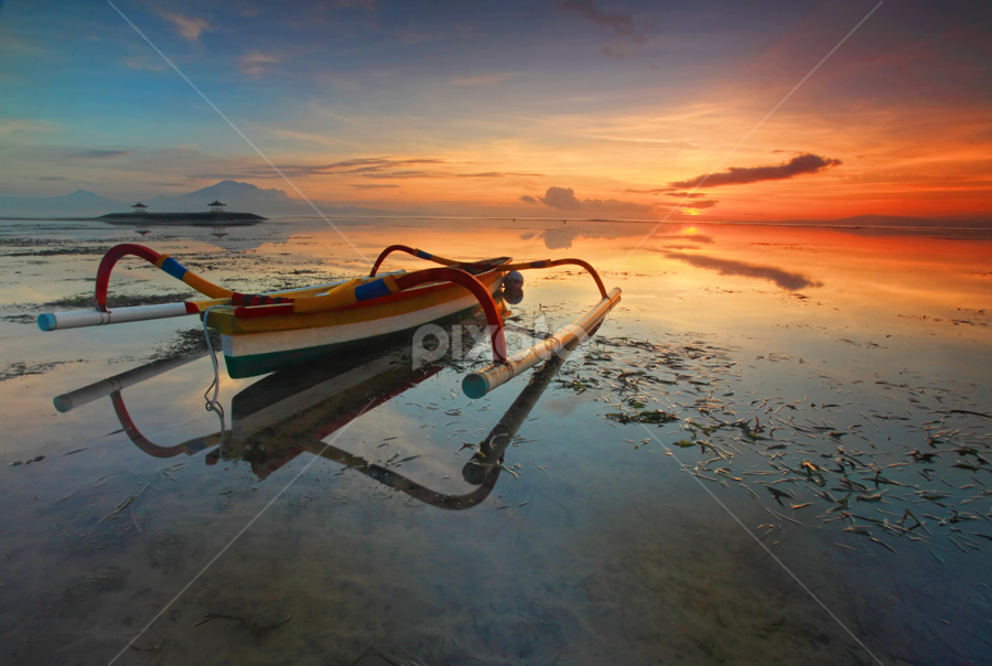 Early Morning at Sanur Beach by Tommy Irenk - Landscapes Waterscapes