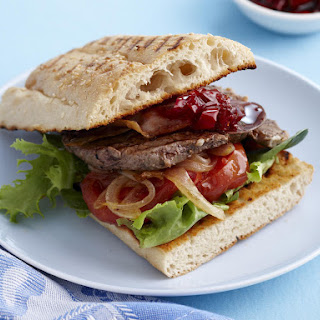 Steak Sandwich with Pepper Relish