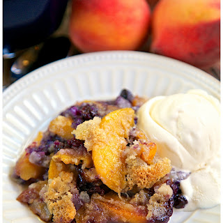 Country Blues Peach Cobbler.