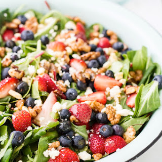 Summer Berry Salad with Maple Walnuts.