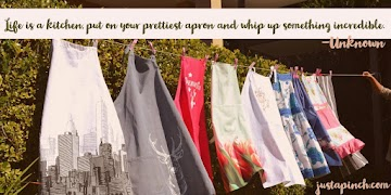 """""""Life is a kitchen, put on your prettiest apron and whip up something incredible."""""""