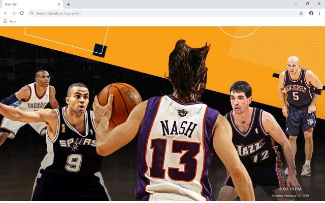 Steve Nash NBA New Tab