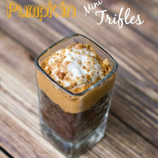 Chocolate Pumpkin Mini Trifles with Madhava Chocolate Cake
