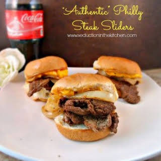 """""""Authentic"""" Philly Steak Sliders."""