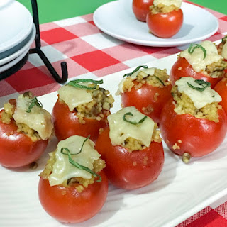 Pancetta & Mushroom Tomato Bites