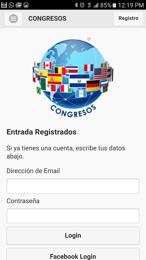 Congresos- screenshot