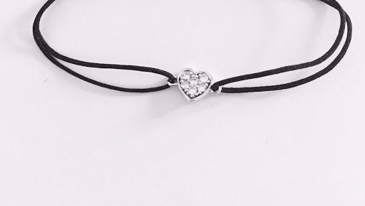 Bracelet coeur strassé