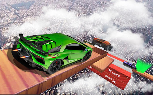 Impossible Tracks Car Stunts Driving: Racing Games apkslow screenshots 24