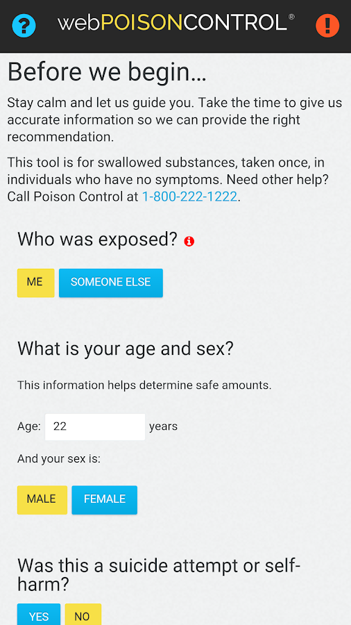 webPOISONCONTROL® Poison App- screenshot