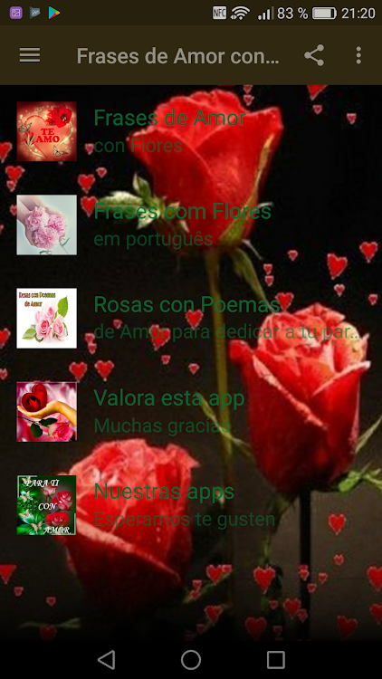 Frases De Amor Con Flores Android Apps Appagg
