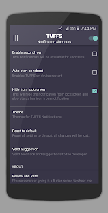 TUFFS Notification Shortcuts Screenshot