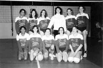 Photo: 1995-1996 Cadettes 1, entraîneur Patricia Vernier