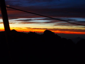 Photo: And this is sunrise the next morning at the peak...