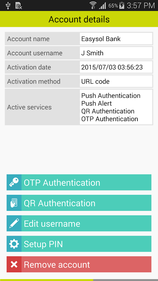 DetectID Authenticator- screenshot