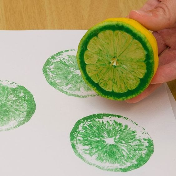 Create Stamps with Fruit and Vegetables
