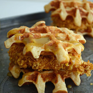 Chicken and Waffle Sliders.