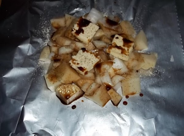 Grilled Onion & Potatos In Foil Packet. Recipe