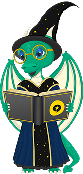 Blogging Wizard - Falkor - Mascot