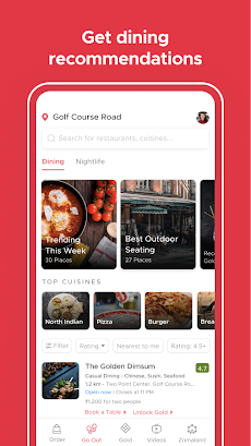 Zomato - Restaurant Finder and Food Delivery Appのおすすめ画像3