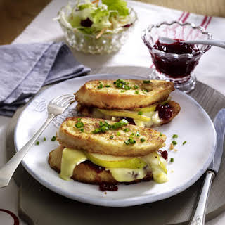 Pear and Camembert Sandwiches.
