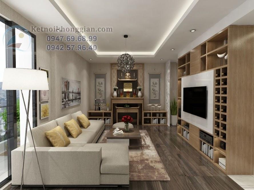 thiết kế phòng khách lịch sự, thiết kế chung cư