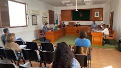 Imagen de archivo de la celebración de un pleno en el Ayuntamiento de Mojácar.