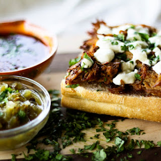 Pork and Fig Molletes | Mexican Open-Faced Warm Sandwich