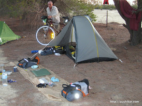 Photo: Perry setting up at Forrestania Plots - The Granite and Woodlands Discovery Trail