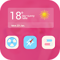 Pink Mood Launcher Theme icon