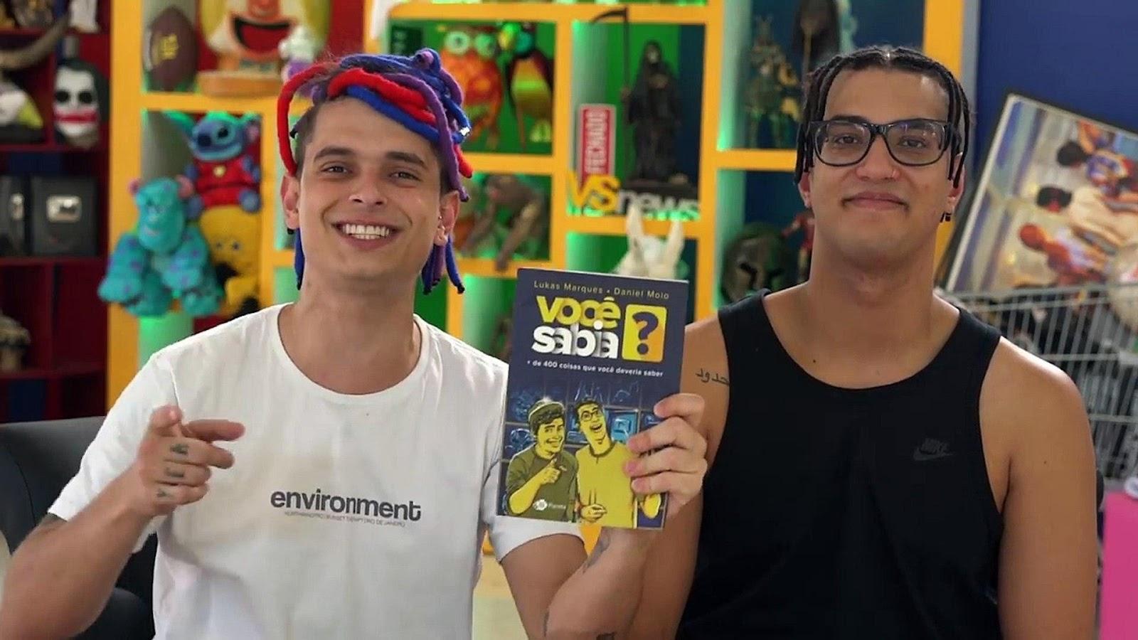 Youtubers Lukas Marques e Daniel Molo, do canal Você Sabia?