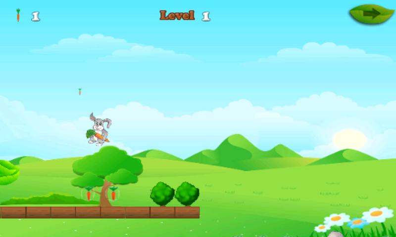 android Rabbit And Carrots Run Game Screenshot 3