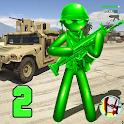 US Army Men Toy Stickman Rope Hero War OffRoad icon