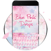 Pink drops blue mood keyboard