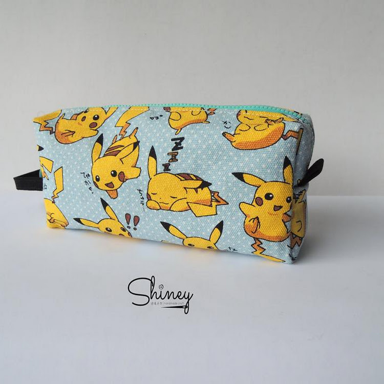 Handmade Classic Pencil Pouch [Pikachu] by Shiney Craft & Zakka 诗绫手作
