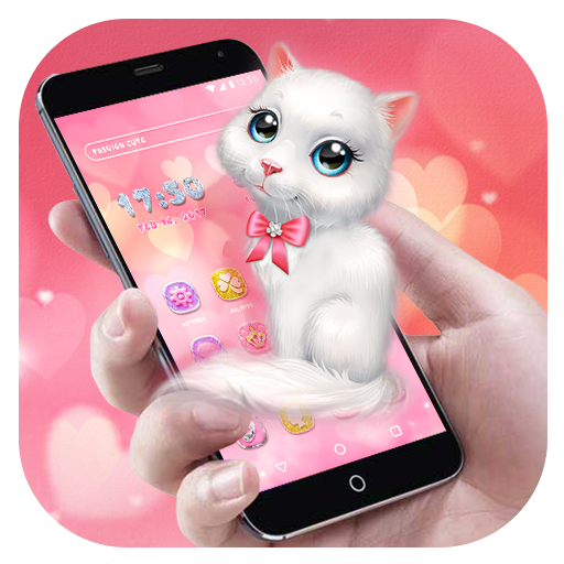 Cartoon Theme - Pink Kitten